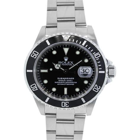 black rolex rolex submariner 16610 black dial stainless steel watch