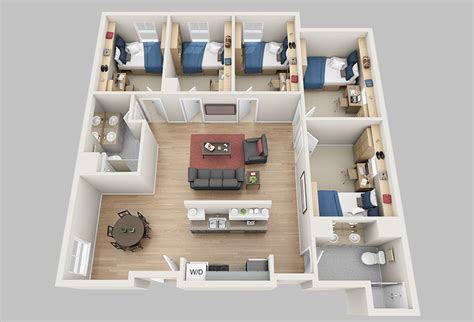 5 bedroom apartments floor plans madbury commons