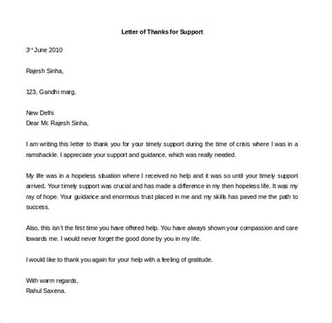 free thank you letter templates 49 free word pdf