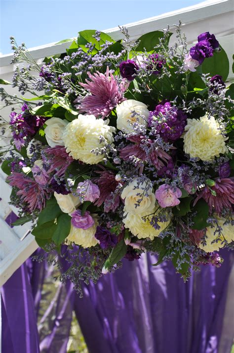 Wedding Arch Purple by Purple Wedding Flowers Purple Green Wedding Garden
