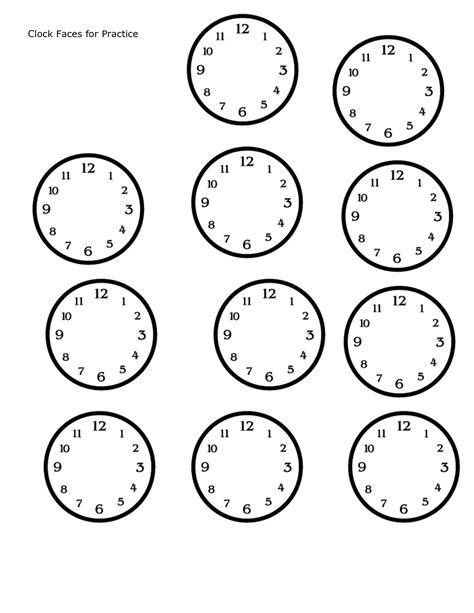 printable clock template blank clock face printable cliparts co