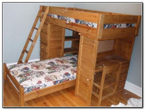Wood Bunk Bed With Desk 45 Bunk Bed Ideas With Desks Ultimate Home Ideas