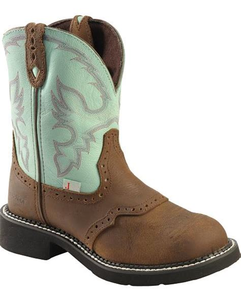 teal cowboy boots justin waterproof teal boots toe