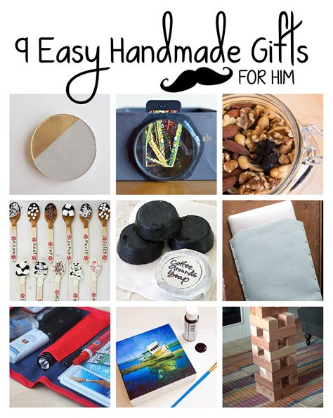 Unique Handmade Gifts For Him - 9 easy handmade gifts for him