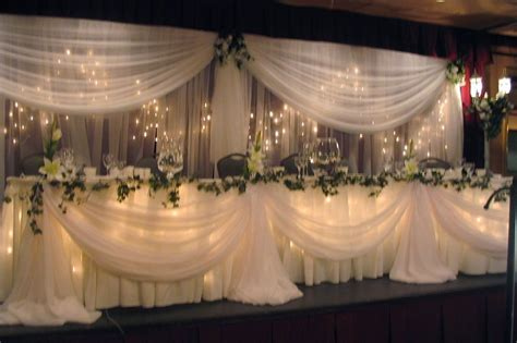 decorating the head table at a wedding reception ehow image detail for wedding angels decorating ltd wedding