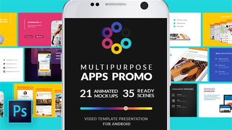 Multipurpose Apps Promo For Android Mobile After Effects Templates F5 Design Com App Promo Template