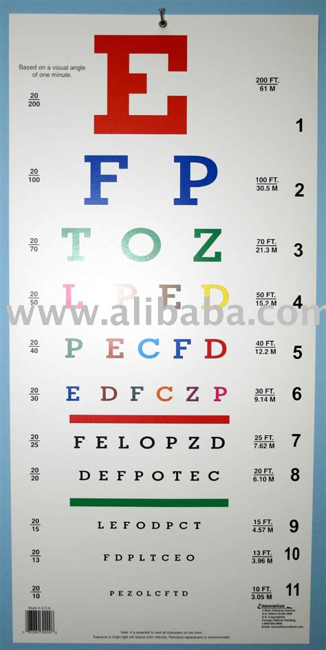 color blindness term alphabetical color eye chart buy color vision eye chart