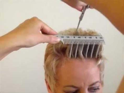 How to Cut Women's Short Hair Layer Haircut   CombPal Scissor Over Comb Hair Cutting tool video