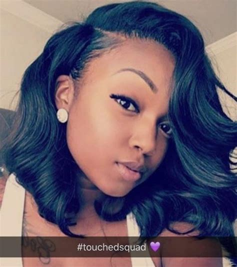 side part hairstyles for black women black w deep side part bob hairstyles for women pictures