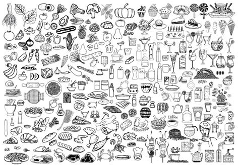 doodle food icons vector food doodles vectors photos and psd files free