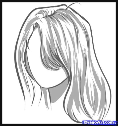 Drawing Hair by How To Draw Hair Step By Step Hair Free