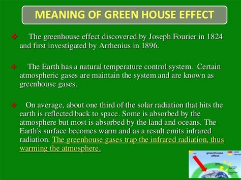 in the green meaning green house effect