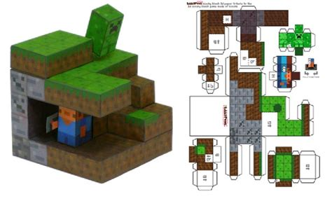 minecraft foldable paper craft minecraft