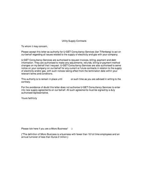 loa letter authority