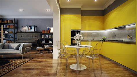 Yellow Kitchen Design Yellow Kitchen Interior Design Ideas
