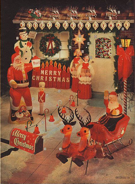 blowmold outdoor christmas decorations in the sears
