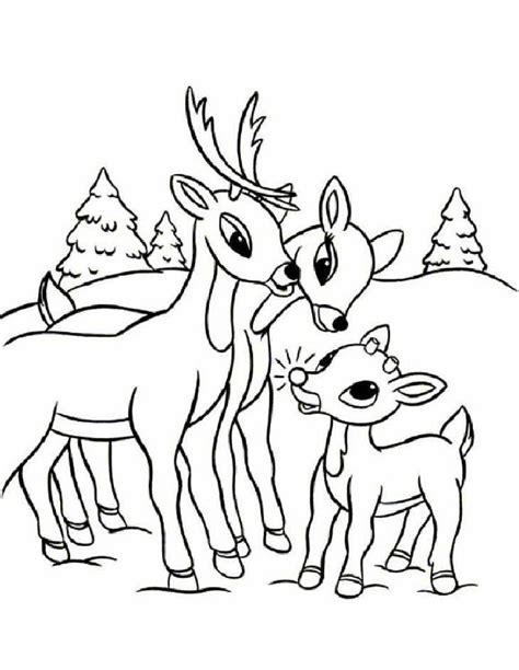 printable coloring pages rudolph the red nosed reindeer rudolph s family coloring pages hellokids com