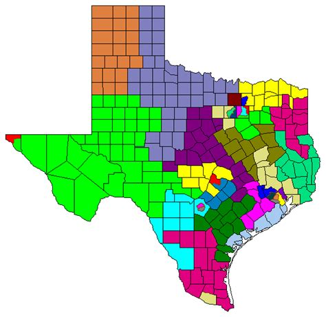 texas congressional district maps houston area map