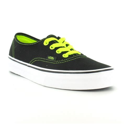 vans deck shoes vans authentic womens 4 eyelet deck shoes neon yellow