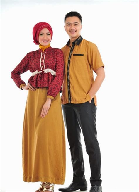 Baju Muslim Gamis Trend 20 contoh trend model baju muslim sarimbit 2015