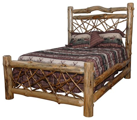 queen log bed rustic pine log queen size twig bed clear varnish