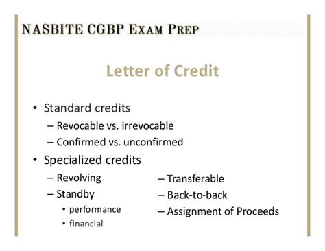 Transfer Standby Letter Of Credit Class 4 Slides Ppt