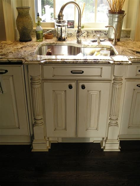 Antique White Cabinets Cabinets In Antique White With Glazing White Kitchen Cabinets