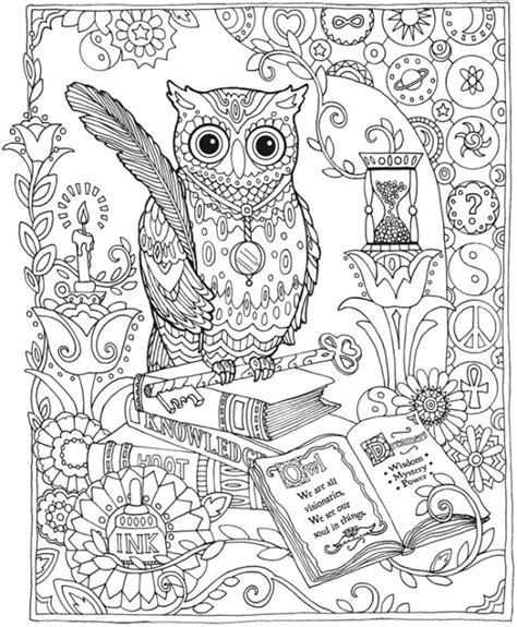 freebie owl coloring page sting