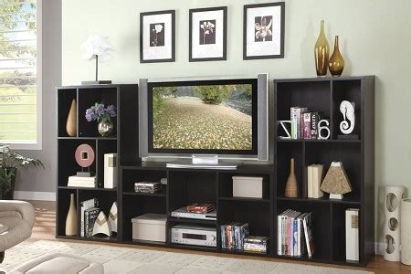 tv stand with matching bookcases black wall tv media stand bookcase furniture shelving