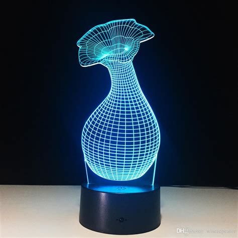Or Vase Optical Illusion by 2018 3d Flower Vase Optical Illusion L Light Dc 5v Usb Charging Aa Battery Wholesale