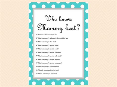 When Do You Normally A Baby Shower by Turquoise Polka Dots Baby Shower Who Knows Best Who