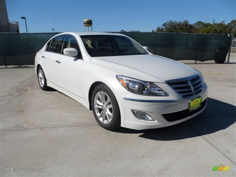2012 White Satin Pearl Hyundai Genesis 3 8 Sedan 56013664