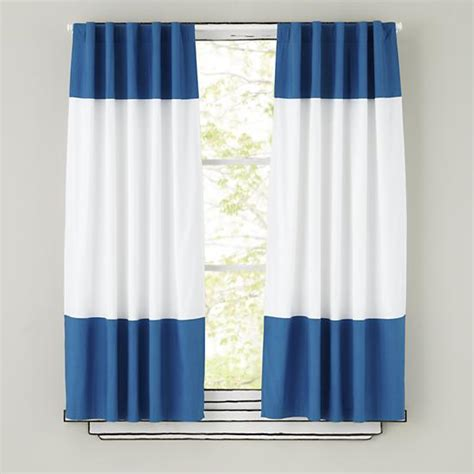 white and blue drapes blue curtains