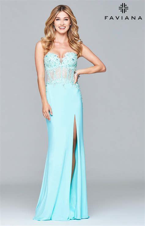 faviana  corset style strapless dress prom dress