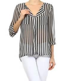 black everyday sheer stripe top
