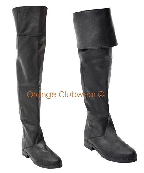 mens leather renaissance boots pleaser mens leather pirate costume renaissance boots