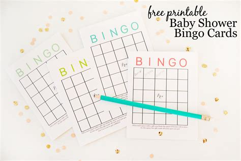 Free Printable Cards Baby Shower by Free Printable Baby Shower Bingo Cards Project Nursery