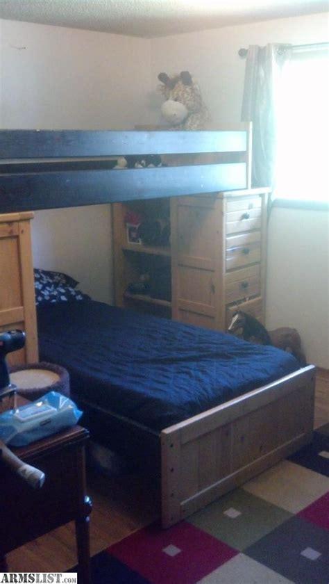 armslist for sale trade real wood bunk bed dresser