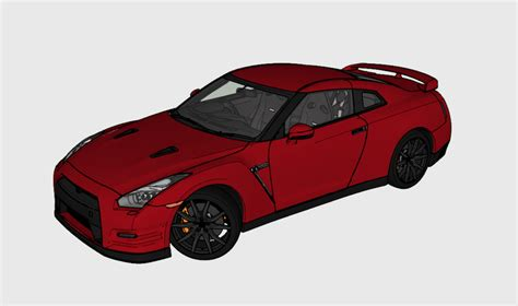 nissan gtr atwood 3d printed smile more atwood s 2015 nissan gt r by