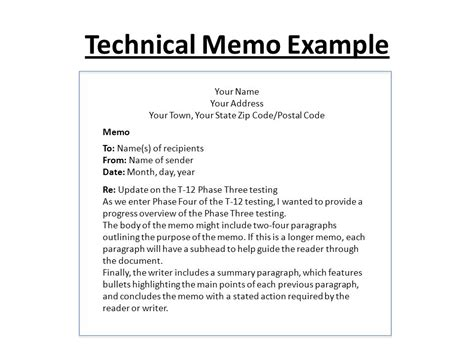 Memo Writing Guide Memo Writing Ppt