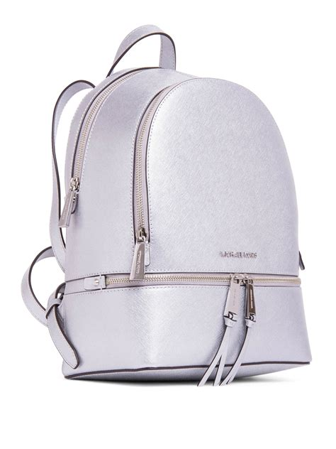 Michael Kors Rhea Backpack metallic saffiano rhea backpack by michael kors