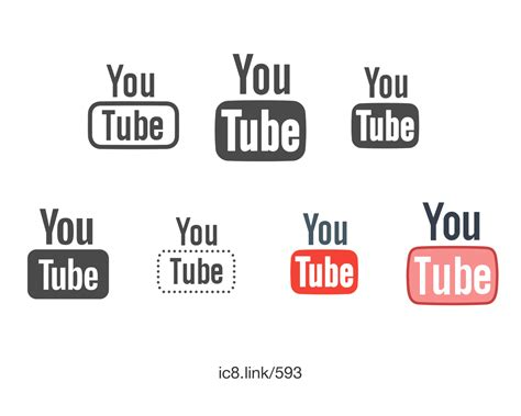 you tine youtube icon free png and svg download