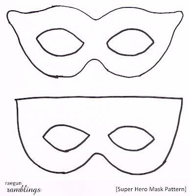 Printable Heroes Tutorial | super hero mask pattern and tutorial super hero masks