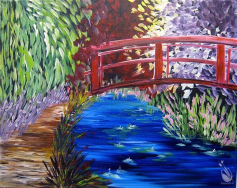 paint with a twist warrington monet s bridge sunday january 8 2017 painting