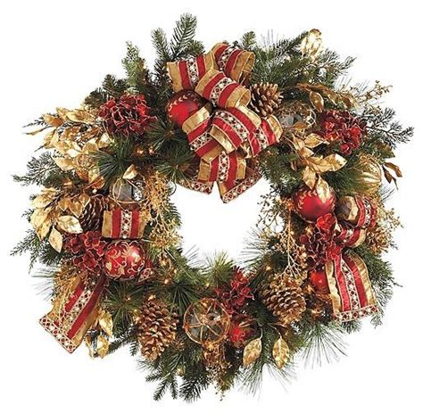 plaza pre lit christmas wreath christmas decor