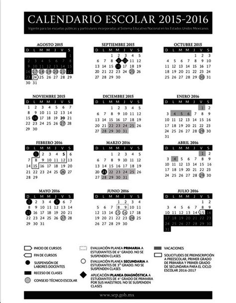 calendario escolar 2016 2017 mexico sep calendario 2016 2017 newhairstylesformen2014 com