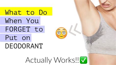 7 Antiperspirants That Actually Work by What To Do When You Forget To Put On Deodorant Actually