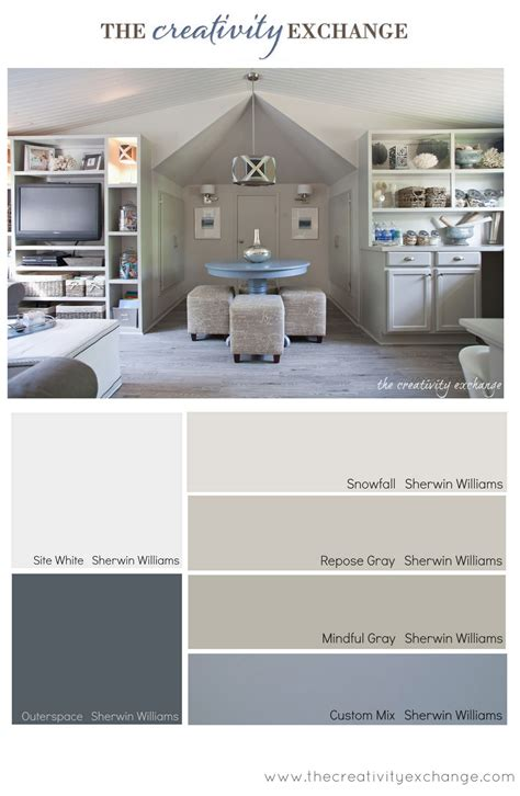 office craft room paint color palette paint it monday