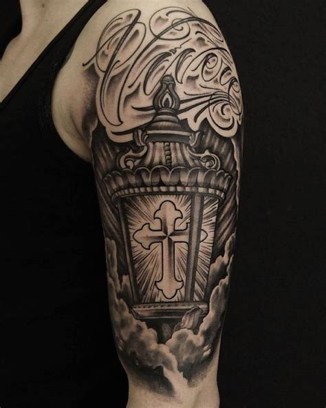half sleeve cross tattoo 35 fabulous lantern tattoos designs and ideas golfian