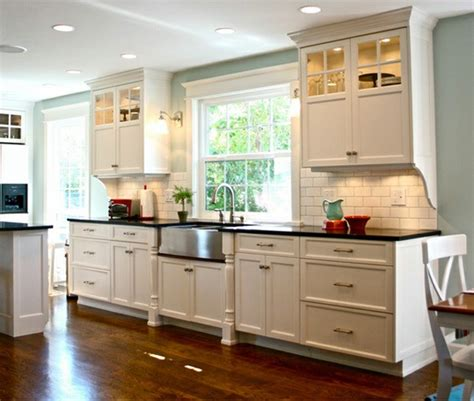 Prefabricated Kitchen Island by Traditional White Farmhouse Kitchen 15 Cool Interior